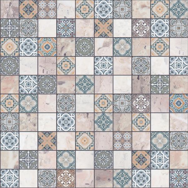 Плитка Beryoza Ceramica Терраццо G синій 30х30