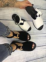 Черные замшевые босоножки сандалии 1 см каблук, кожа или замша пошив с рюшечкой размеры 36-41, фото 3