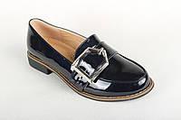 Туфли К017-2 женские GIRNAIVE лакированные синие