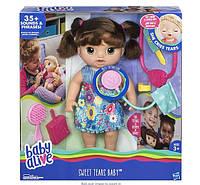 Baby Alive Интерактивная кукла Малышка у врача, брюнетка Sweet Tears