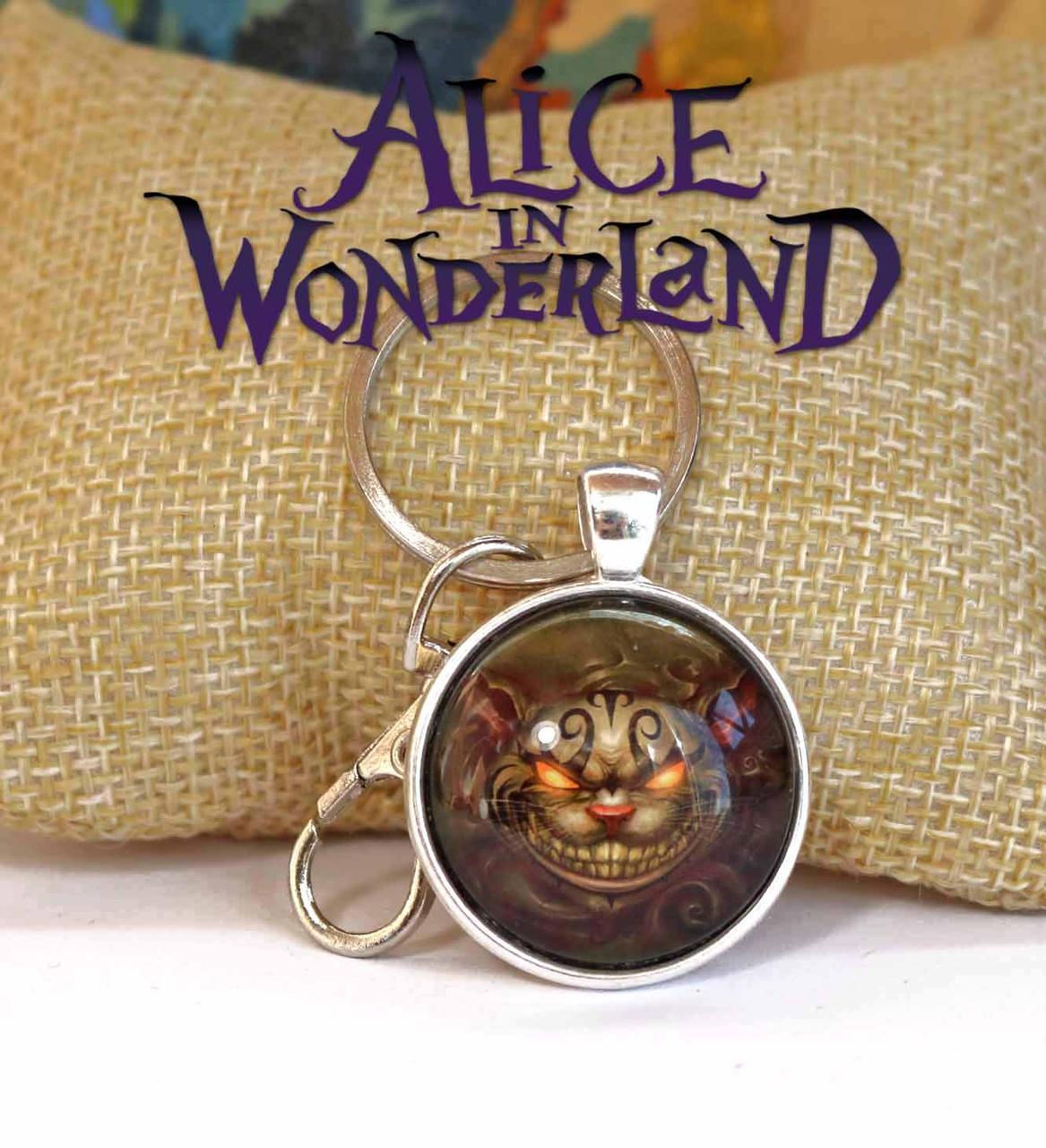 Брелок с Чеширским котом Алиса в стране чудес / Alice in Wonderland