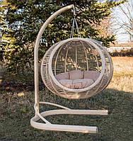Круглое подвесное кресло кокон из ротанга Арена