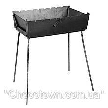 Мангал чемодан складной на 8 шампуров, толщина стали 3 мм, дачный мангал