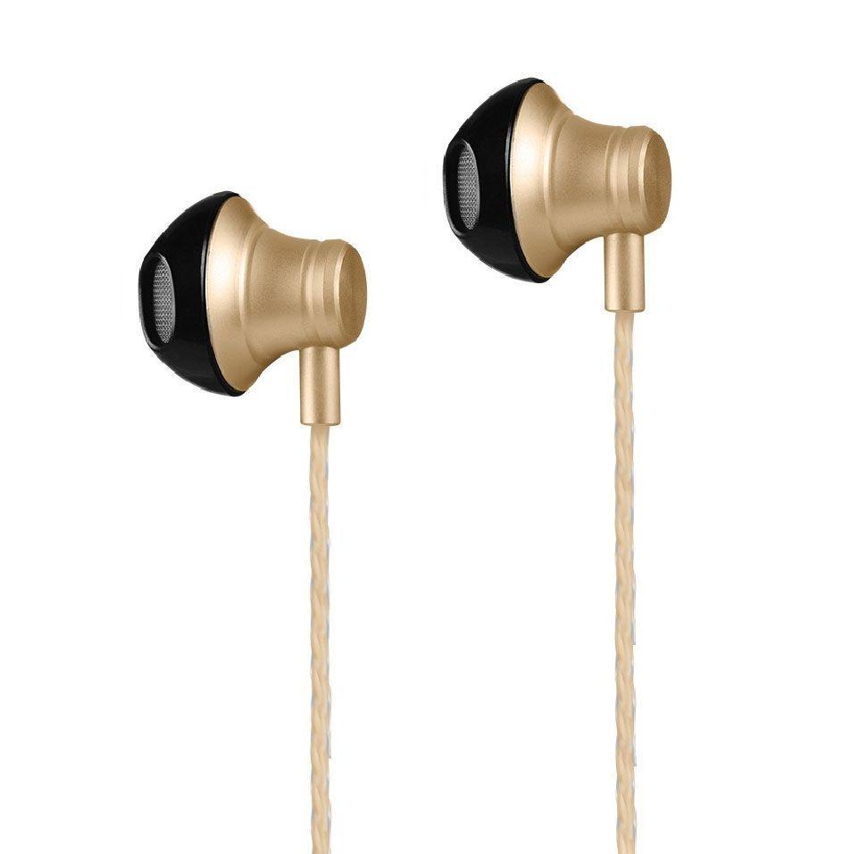 Наушники с микрофоном Hoco M18 Goss Metal Gold