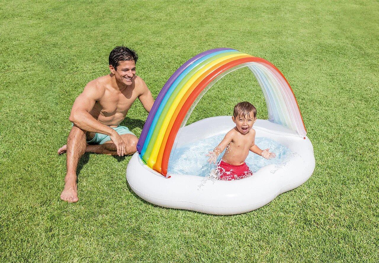 Детский надувной бассейн Intex 57141 142 см х 119 см х 84 см
