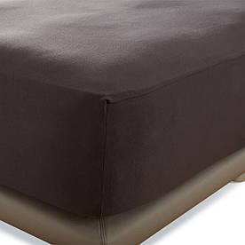 Простынь на резинке Penelope - Tender dark grey темно-серый 160*200+40