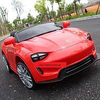 Детский легковой электромобиль Tilly Porsche (красный цвет) с пультом управления