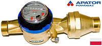 """Водосчетчики Apator Powogaz JS-3,5 ХВ (ДУ-25) 1,0"""" на холодную воду одноструйные крыльчатые сухоходы для домов"""