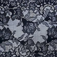 """Кружево стрэйчевое  черное """"жилио"""", ширина 26см, цвет черный (Италия)"""