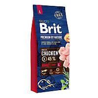 Brit Premium Adult Large Chicken Сухой корм для собак крупных пород с курицей / 15 кг