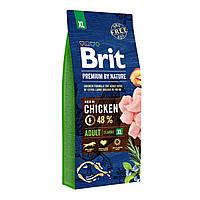 Brit Premium Adult XL Chicken Сухой корм для взрослых собак гигантских пород / 15 кг