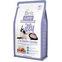 Brit Care LILLY Sensitive Digestion Гипоаллергенный корм для кошек с ягненком и лососем / 7 кг