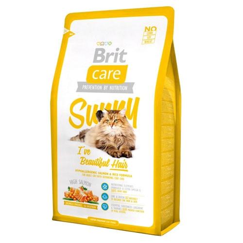 Brit Care SUNNY Beautiful Hair Корм для кішок шерсть яких вимагає додаткового догляду / 7 кг