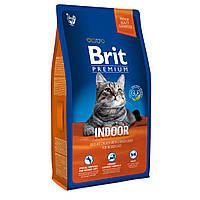 Brit Premium Indoor Сухий корм для кішок не покидають приміщення / 8 кг