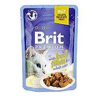 Brit Premium with Beef Fillets in Jelly for Adult Cats (пауч) Консервы для кошек Кусочки филе говядины в желе
