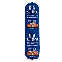 Brit Premium Sausage Turkey (Колбаса) Консервы для собак с индейкой / 800 гр