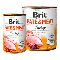 Brit Pete & Meat Turkey Консервы для собак с индейкой / 400 гр