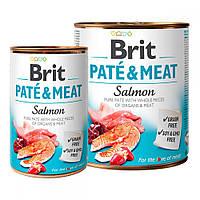 Brit Pete & Meat Salmon Консервы для собак с лососем / 400 гр