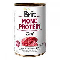 Brit Mono Protein Beef Консервы для собак с говядиной / 400 гр