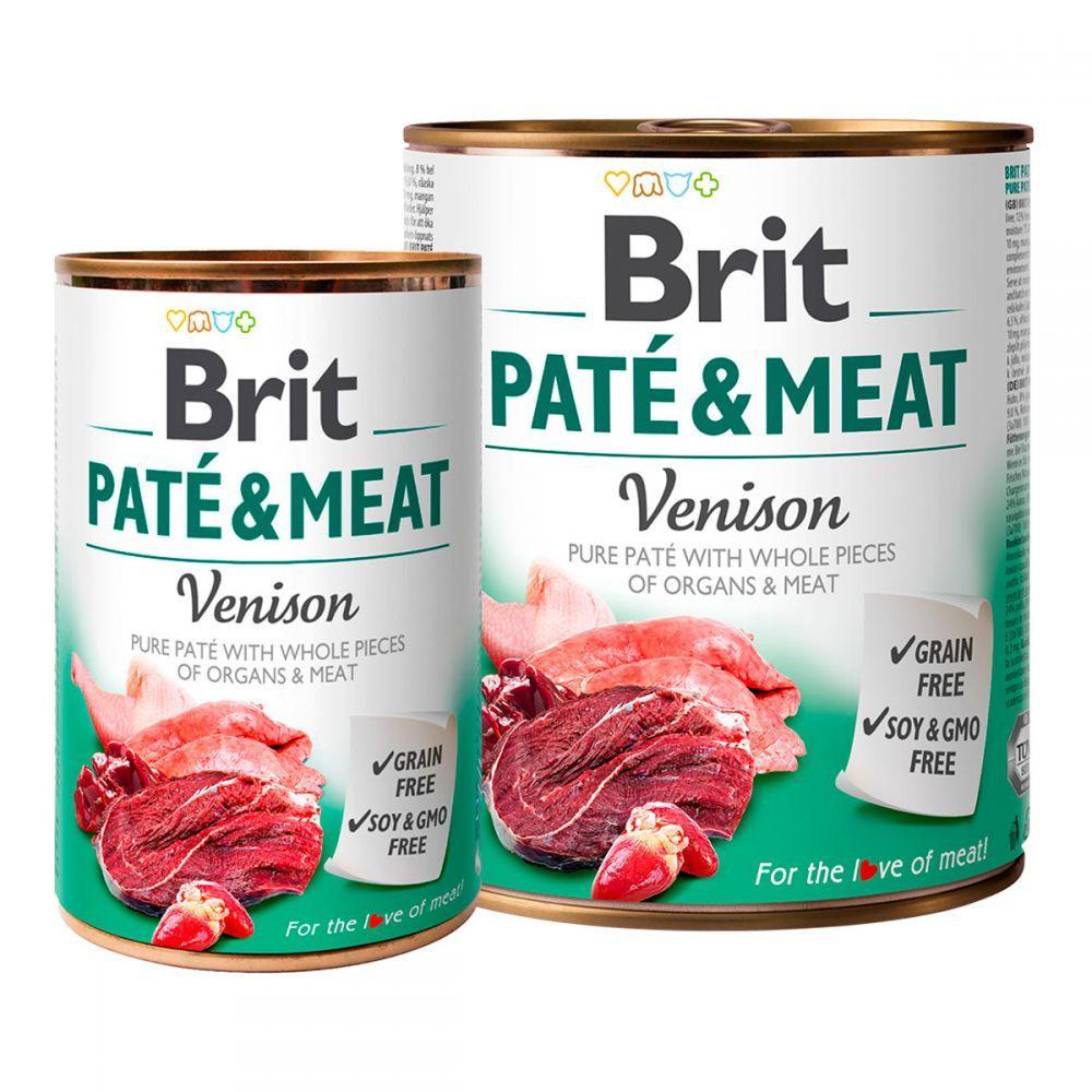 Brit Pete & Meat Venison Консерви для собак з олениною / 400 гр