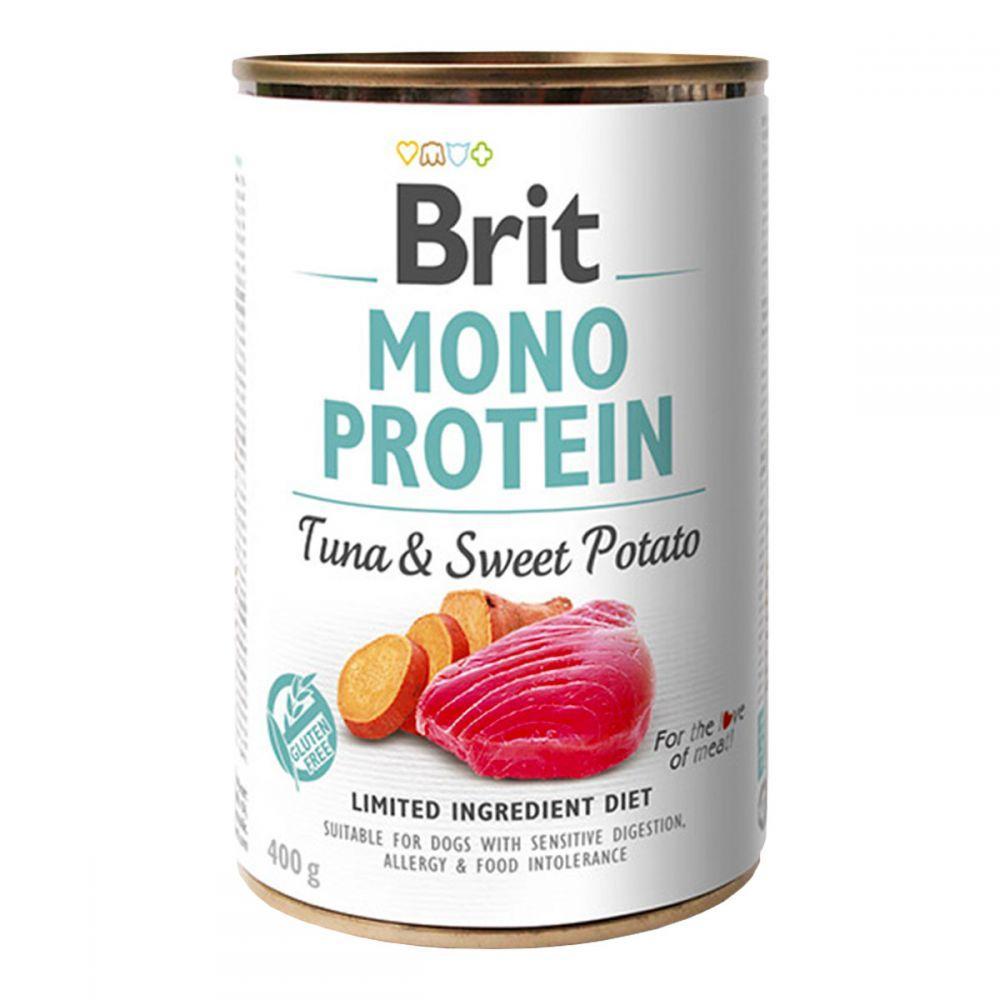Brit Mono Protein Tuna & Sweet Potato Консервы для собак с тунцом и бататом / 400 гр
