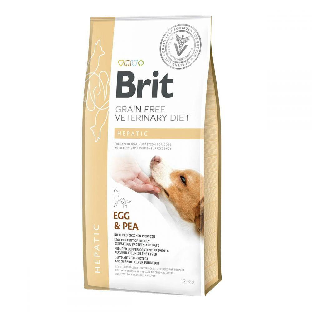 Brit GF Veterinary Diet Heapatic Лікувальний корм для собак з печінковою недостатністю / 12 кг