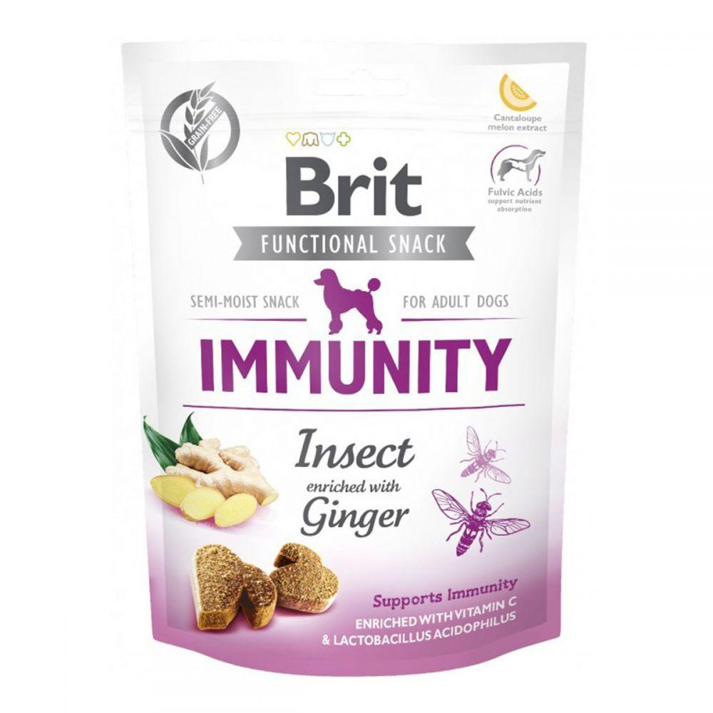 Brit Care Dog Functional Snack Insect & Ginger Immunity Ласощі для собак з комахами і імбиром / 150 гр