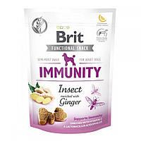 Brit Care Dog Functional Snack Insect & Ginger Immunity Лакомства для собак с насекомыми и имбирем / 150 гр