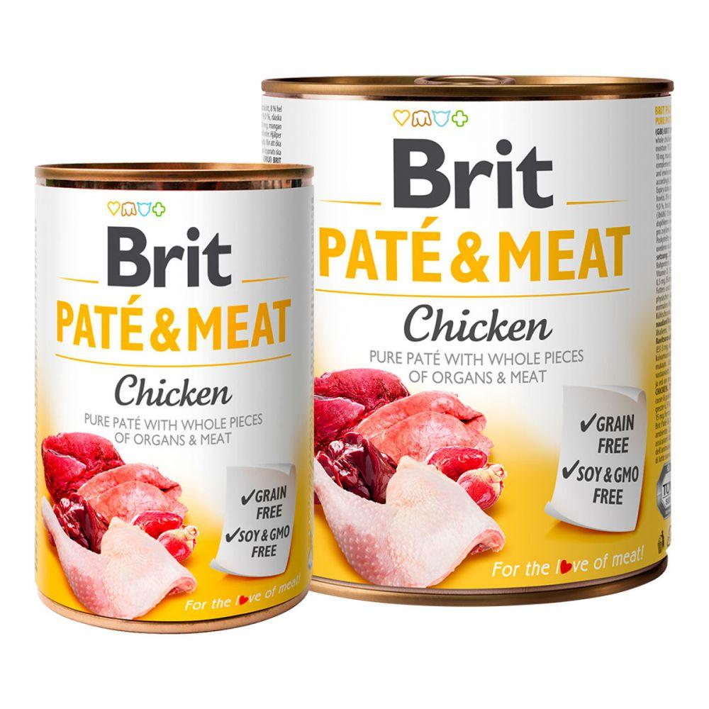 Brit Pete & Meat Chicken Консервы для собак с курицей / 400 гр