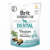 Brit Care Dog Functional Snack Dental Venison Лакомство для собак с дичью и розмарином / 150 гр