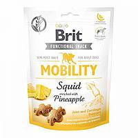 Brit Care Dog Functional Snack Mobility Squid Лакомство для собак с кальмаром и ананасом / 150 гр