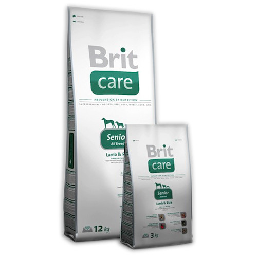 Brit Care Senior lamb & Rice Корм для стареющих собак с ягненком и рисом / 12 кг