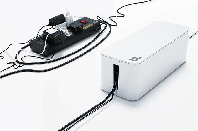Органайзер для проводів вогнестійкий Cablebox Mini Bluelounge (white)