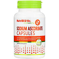 Аскорбат натрия Витамин С NutriBiotic, Immunity, 100 Vegan Capsules