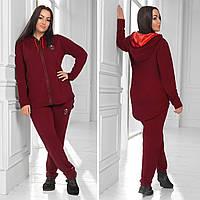 Трикотажный спортивный костюм женский Размер 48 50 52 54 56 58 60 62 64 В наличии 4 цвета
