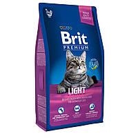 Brit Premium Light Сухий корм для котів з надмірною вагою / 8 кг
