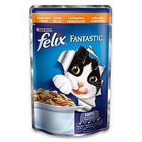 Purina Felix Fantastic Консервы для кошек с индейкой в желе 100 гр / 100 гр