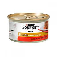 Gourmet Gold Нежные Биточки с говядиной и томатом / 85 гр