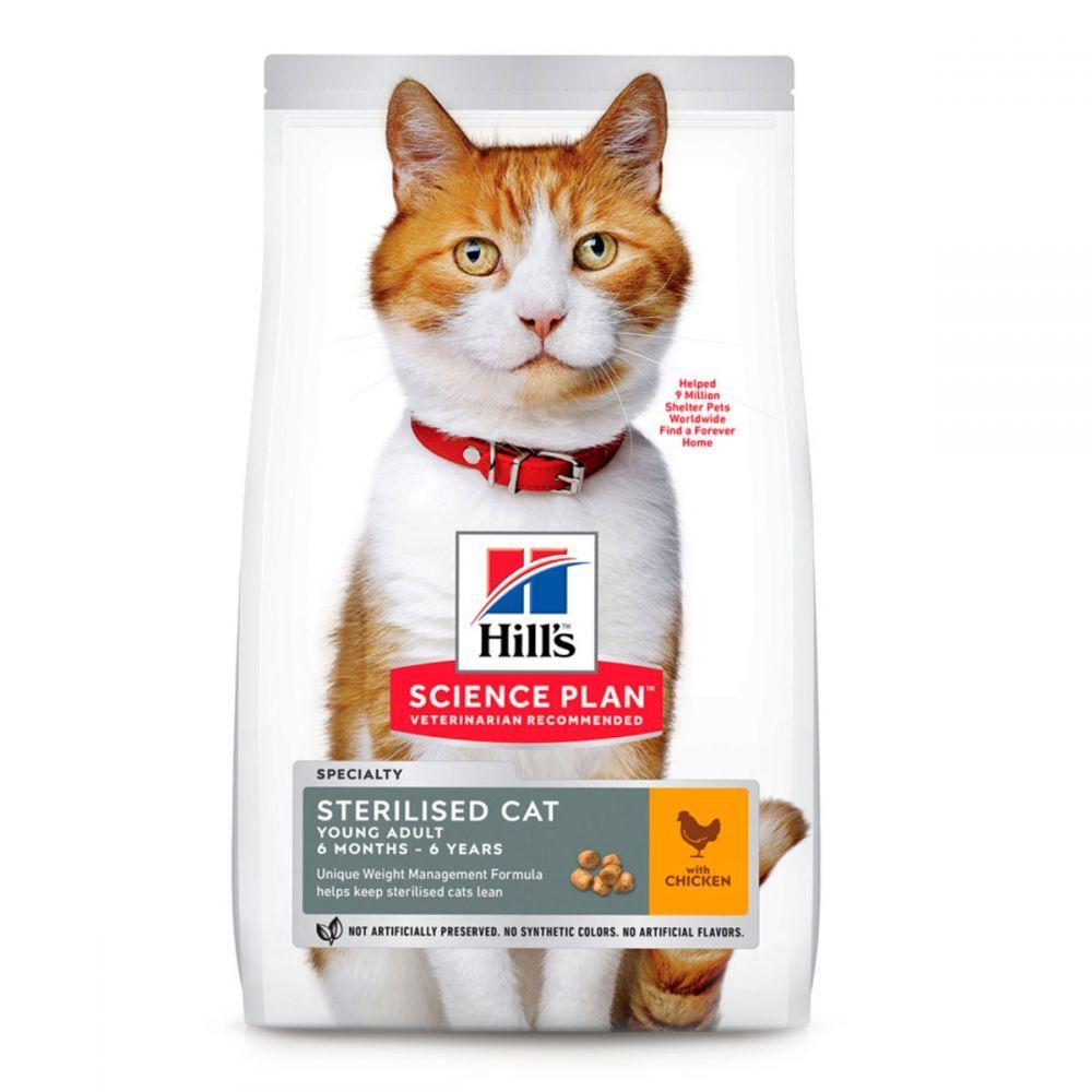 Hills Science Plan Sterilised Cat Young Adult Chicken Сухий корм для стерилізованих кішок з куркою / 15 кг
