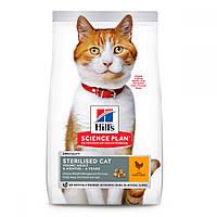 Hills Science Plan Sterilised Cat Young Adult Chicken Сухий корм для стерилізованих кішок з куркою / 15 кг, фото 1