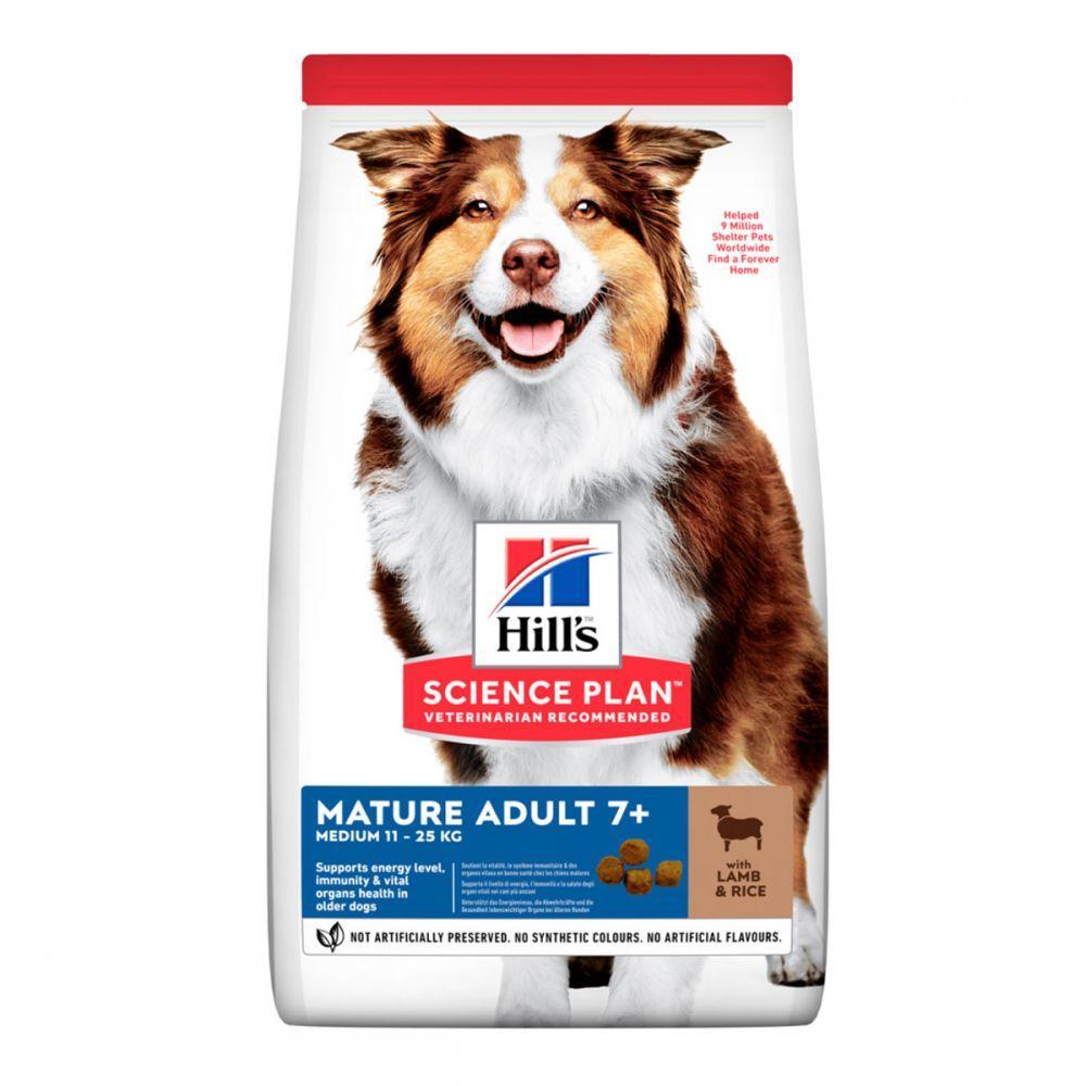 Hills Science Plan Medium Mature Adult 7+ Lamb & Rice Сухой корм для пожилых собак средних пород с ягненком и