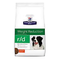 Hills Prescription Diet Canine r/d Лікувальний сухий корм для собак / 12 кг