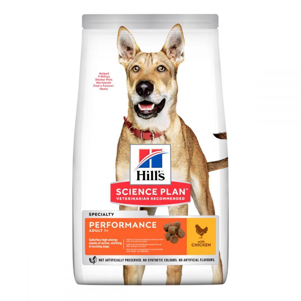 Hills Science Plan Adult Performance Chicken Сухой корм для активных собак всех пород с курицей / 14 кг