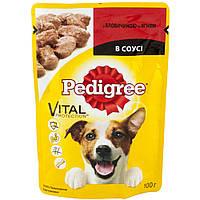 Pedigree Vital Protection (пауч) Консервы для собак с говядиной и ягненком в соусе / 100 гр
