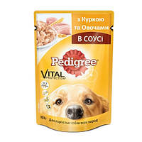 Консерва Pedigree (с курицей и овощами в соусе) 100 гр / 100 гр