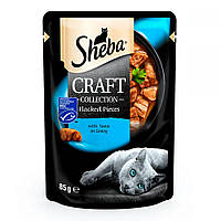 Sheba Craft Collection Flacked Pieces Tuna Консерви для кішок з тунцем в соусі / 85 гр