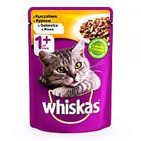 Whiskas 100 гр консерва для кошек с курицей в желе / 100 гр