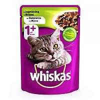 Whiskas 100 гр консерва для кошек с ягненком в желе / 100 гр