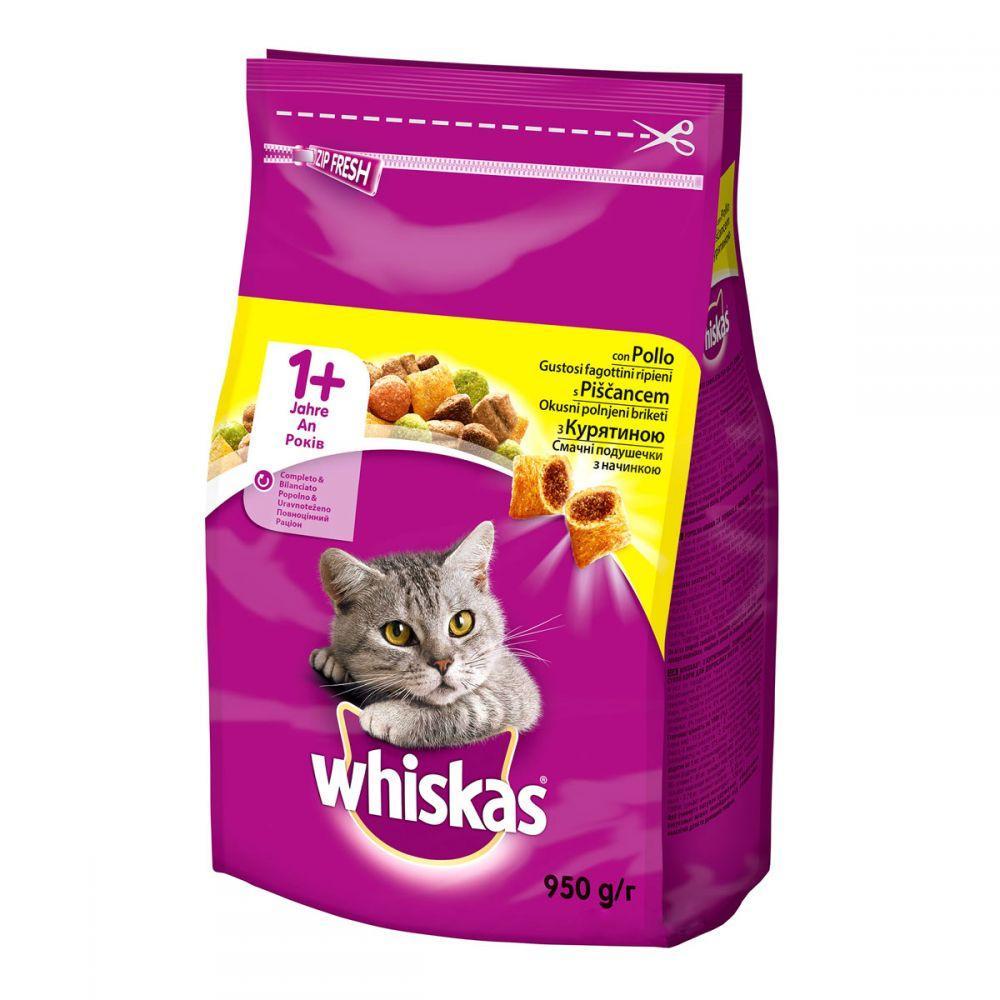 Whiskas Сухой корм для кошек с курицей / 900 гр