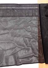 """Кружево эластичное на сетке """"реттель"""", ширина 25см, цвет черный (Италия)"""